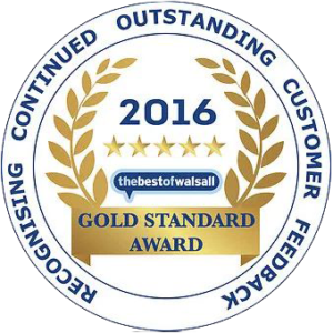 best of walsall gold standard award for blind fitting service